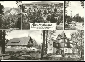 Friedrichroda, gebr. Mehrbild sw-AK