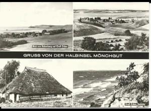 Gruss von der Halbinsel Mönchgut, gebr. Mehrbild sw-AK