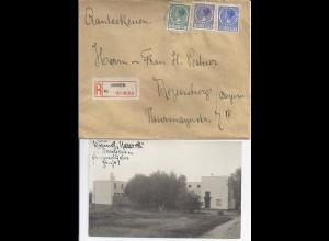 NL 1934, Ak u. Reko Brief v. Karmelitessen Orden Arnhem n. Regensburg. #2295
