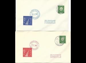 BRD 1961, Stadtkyll / Prüm, 2 Brief m. NL Raketenpost Marken