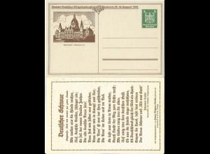 DR 1924, Hannover Sängerbundfest, ungebr. 5 Pf. Privat Ganzsache m. Leier. #2683