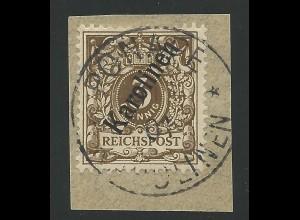PONAPE Karolinen, schönes Briefstück m. 3 Pf. Mi. Nr. 1 II. #1277