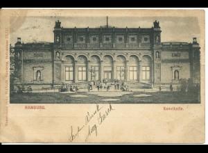 Hamburg Kunsthalle, 1899 gebr. sw AK