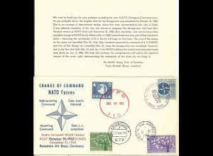 BRD, USA, Canada, Frankreich 1962, NATO Forces Change of Command Doku Brief