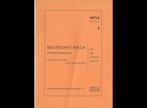 H. Schulze, DR 2,50 Mk. Offsetdruck. Infla Berlin Bücherei, 19 S.