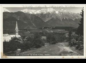 Rinn Tirol, sw AK m. Posthilfstelle Stempel * Rinn. P. Innsbruck 2 *. #2071