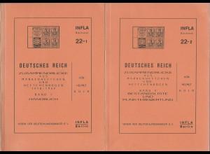 Gold: DR Zusammendrucke aus Markenheftchen und Heftchenbogen 1910-1942, Bd.1+2