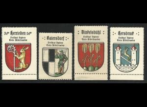 Bayern, Dinkelsbühl, Hersbruck, Herrieden, Baiersdorf, 4 Mittelfranken Marken
