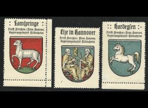Hannover, Wappen Elze, Lamspringe, Hardegsen, 3 Reg.Bez. Hildesheim Marken