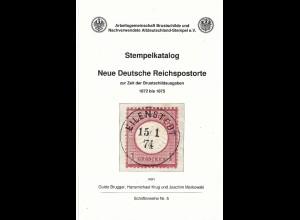 Literatur, DR 1872-75, ArGe Stempel Katalog Neue Reichspostorte, 223 S.