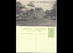 Belgisch Kongo, ungebr. Bild Ganzsache m. Termiten -Bau. Thema Insekten. #2043