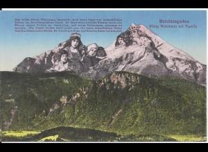 Berchtesgaden, Watzmann, ungebr. Farb AK Berggesichter. #1965