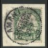 DOA 12, 3 P. auf Briefstück m. Stpl. AMANI.