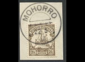 DOA 30 I, 2 1/2 H. auf Briefstück m. Stpl. MOHORRO.