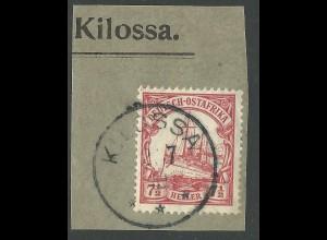 DOA 32, 7 1/2 H. auf Briefstück m. Stpl. KILOSSA.