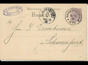 DR 1886, Klaucke Nr.77 HANN. MÜNDEN a klar auf 5 Pf. Ganzsache