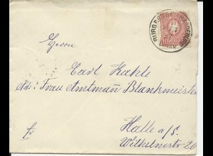 DR 1887, Klaucke Nr.33 BURG REG.Bez. MAGDEBURG auf Brief m. 10 Pf.