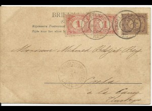 NL, Zwolle Weezenland, 1902 n. Kreta gebr. sw. AK m. 1/2+2x1 C.
