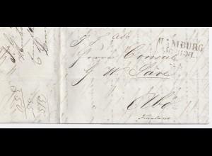 Hamburg Finnland 1840, Brief m. rückseitigen Portovermerken. #1696