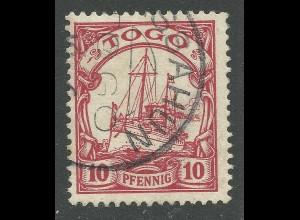 Togo, 10 Pf. m. besserem Stpl. ASSAHUN