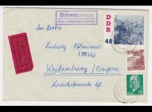 DDR 1961, Schmalzerode ü. Eisleben, Landpoststellen Stpl. auf Eil Brief. #2317