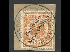 DNG 5, 25 Pf. auf schönem Briefstück m. Stpl. FRIEDRICH-WILHELMSHAFEN. Geprüft.